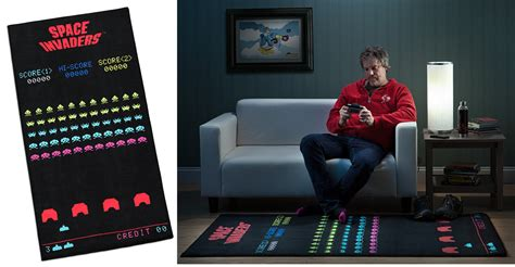 space invaders rug giftmodo the ultimate list of presents for geeks gizmodo australia