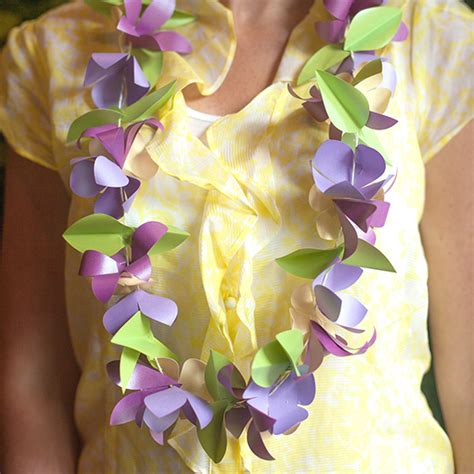 How To Make Paper Leis - make a paper flower tropical