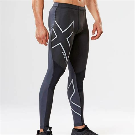 Celana Baselayer Sport 2xu 2xu wind defence mens black water resistant compression running tights ebay