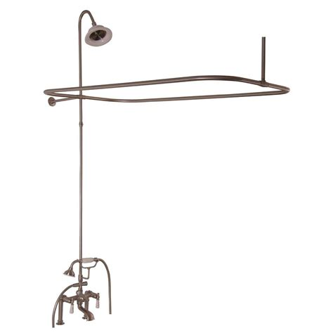 3 foot bathtub barclay products porcelain lever 3 handle claw foot tub faucet with riser and 48 in