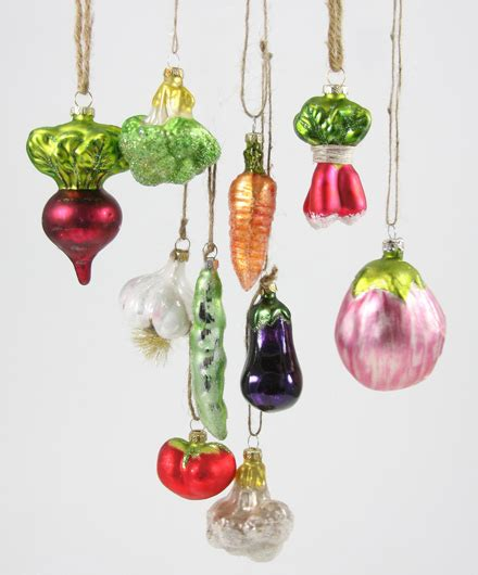 vegetable patch glass christmas ornaments shop nectar