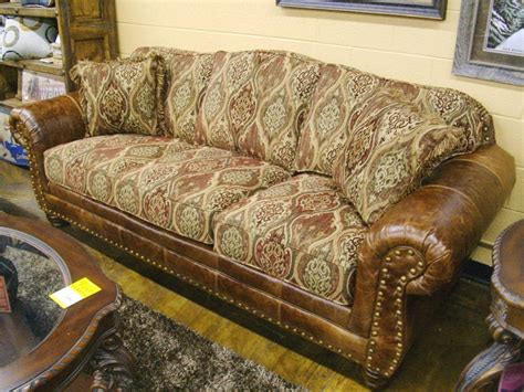 leather fabric combo sofa bradley s furniture etc mayo 318 sofa