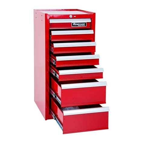 tool chest side cabinet w15 7x renegade industrial 7 drawer side cabinet for roll