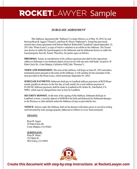 Sle Agreement Letter For Room Rental Room Rental Agreement Form Template With Sle