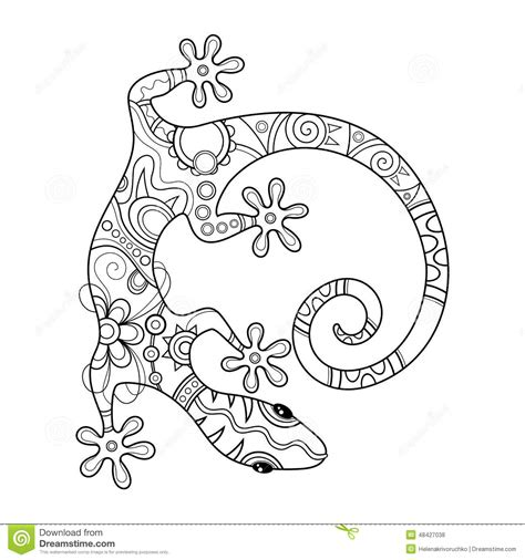 vector tribal decorative lizard stock vector image 48427038