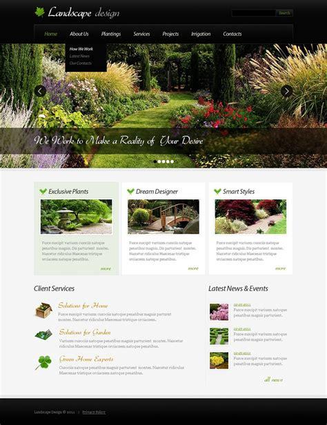 landscape design joomla template 32756