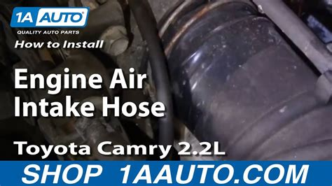 install replace engine air intake hose toyota camry