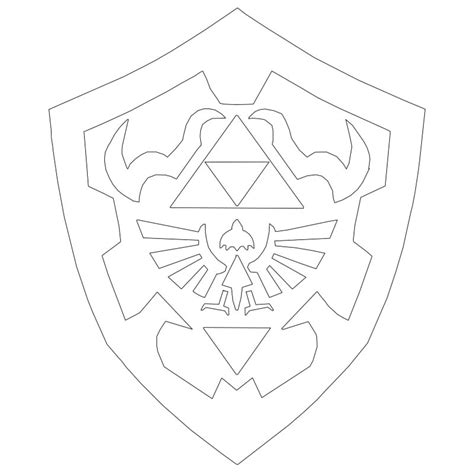 Hylian Shield Outline by 187 Post Your Icon Ideas Here Heroes Of Equestria Fimfiction