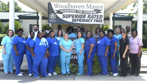 woodhaven manor celebrates positive report after