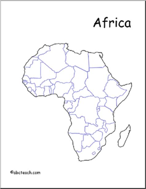 africa map unlabeled map africa unlabeled countries abcteach