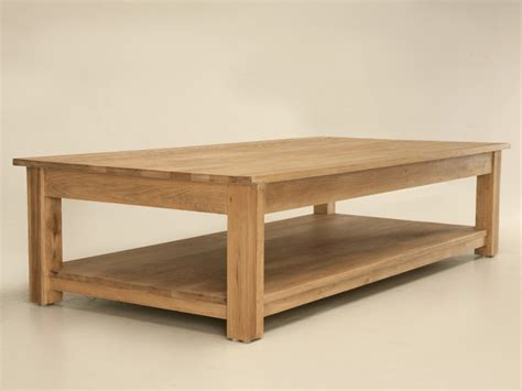 large oak coffee table plans free