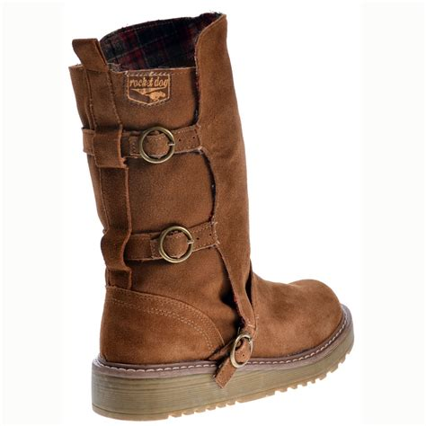 rocket dogs rocket jed biker boots chestnut brown suede rocket from onlineshoe uk