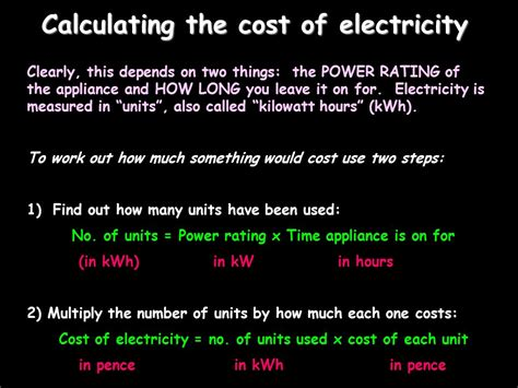 how to calculate the cost of electricity consumption 28