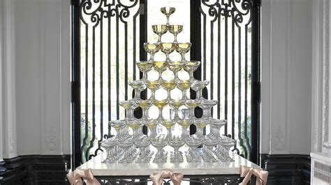 How To Build a Champagne Tower   Martha Stewart Weddings