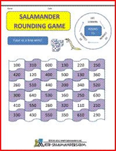printable rounding numbers games 225 best images about rounding numbers on pinterest