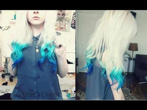 light tips how to blue dip dye blue ombre hair