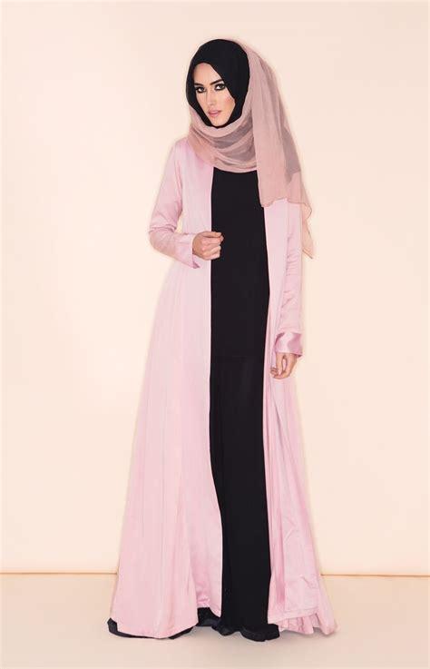 Zahira Set Dress Gamis Muslimah pink kimono aab beautiful