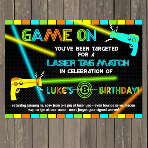 printable birthday invitations laser tag laser tag invitation laser tag birthday invitation boys
