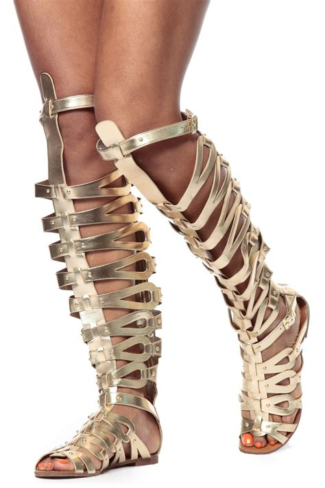 thigh high sandal boots gold thigh high gladiator sandals cicihot sandals shoes