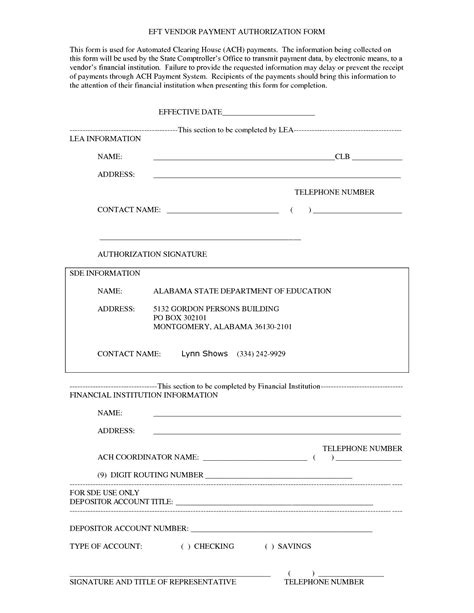 27 Images Of Payment Approval Form Template Leseriail Com Ach Authorization Form Template Word