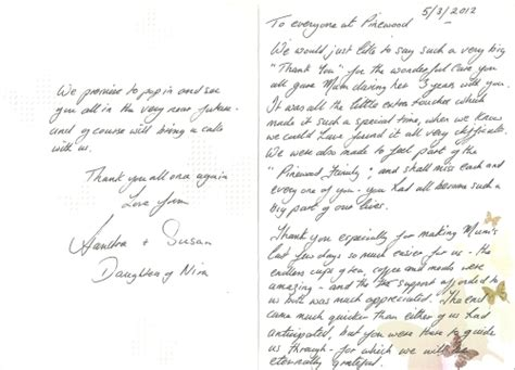 appreciation letter to nursing home appreciation letter to nursing home 28 images www