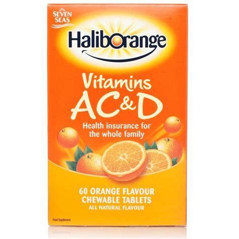 haliborange vitamins a c d orange flavour tablets