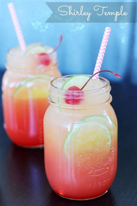 shirley temple recipe drinks pinterest