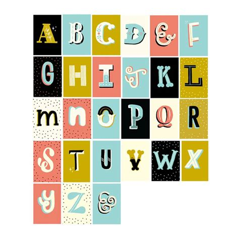 alphabet card your own letter by the happy pencil