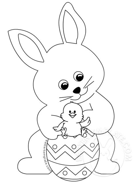 easter templates easter bunny with coloring page easter template