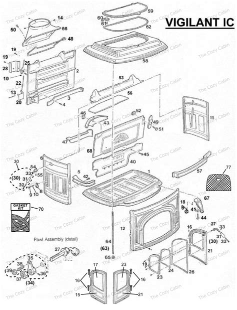 Vermont Castings Fireplace Parts by Vigilant Ic 0035 0036 The Cozy Cabin Stove Fireplace