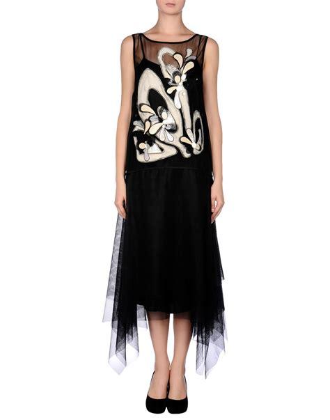 Antonio Marras Dress antonio marras 3 4 length dress in black lyst