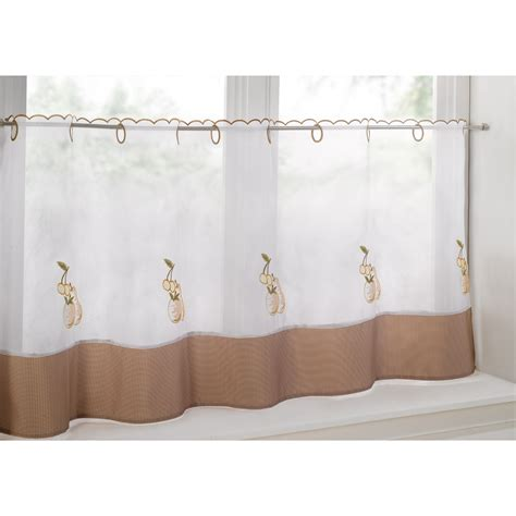 cafe style curtains cafe style curtain panel with chequer pattern edge and