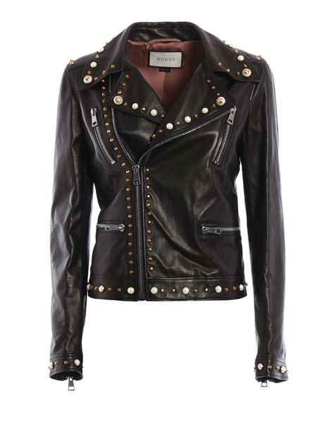 Guci Leather leather biker jacket by gucci leather jacket ikrix