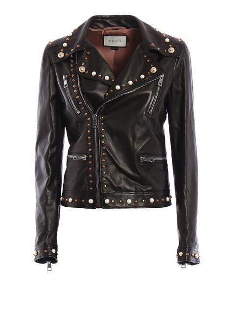 Guc Ci Leather leather biker jacket by gucci leather jacket ikrix