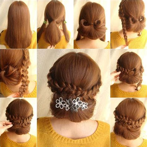 hairstyle ideas diy how to diy elegant braids and chignon hairstyle