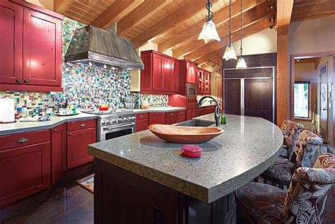 red kitchen design ideas pictures and inspiration dark red kitchen cabinets quicua com