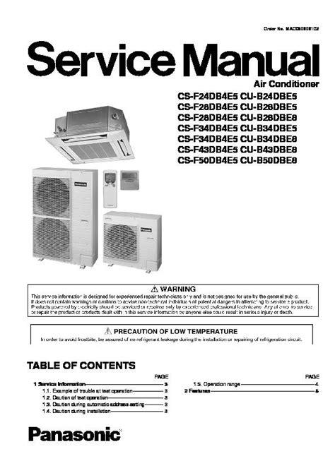 Panasonic Air Conditioner Service Manuals Page 7