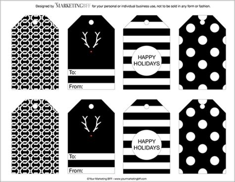 free printable christmas tags black and white 13 printable gift tags for quick holiday gifts tip junkie