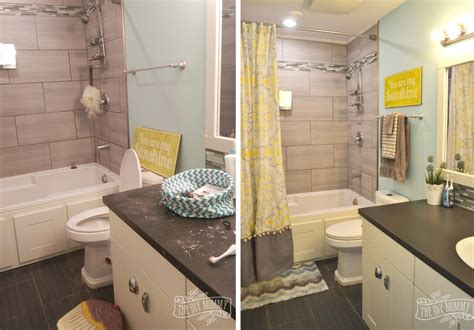 yellow grey bathroom yellow and grey bathroom decorating ideas