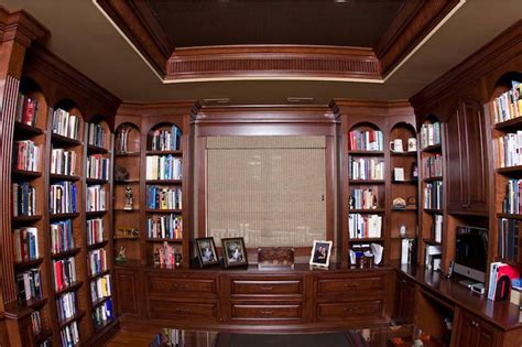 pictures of home office library cherry library and home office in ellicott city maryland maryland cabinets a cut above inc
