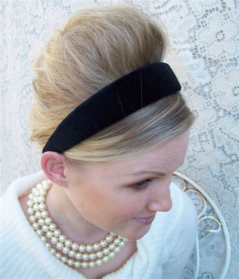Velvet Hair Band black velvet headband classic preppy