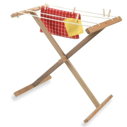 Clothesline Rack by Hardwood Clothesline Stand Montessori Services