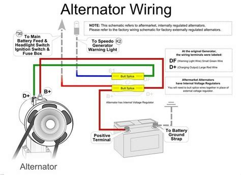 simple alternator wiring diagram superior automotive technicians cars mecanica automotriz