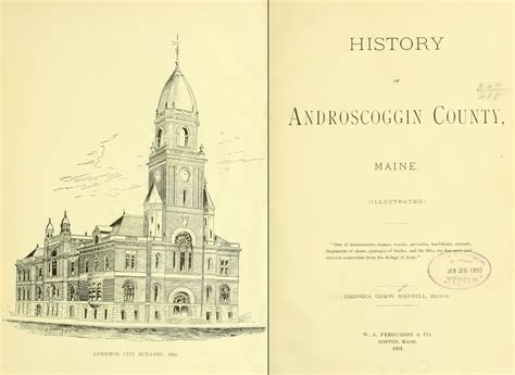 Androscoggin County Court Records 1891 Androscoggin County Maine Me History And Genealogy Ancestry Dvd Cd B04 Ebay