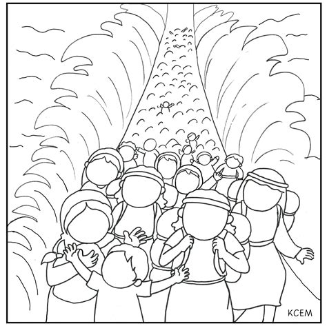 free moses and the red sea coloring pages