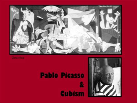 picasso paintings ppt picasso cubism power point