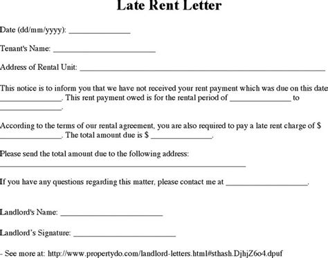 late rent notice template download free premium