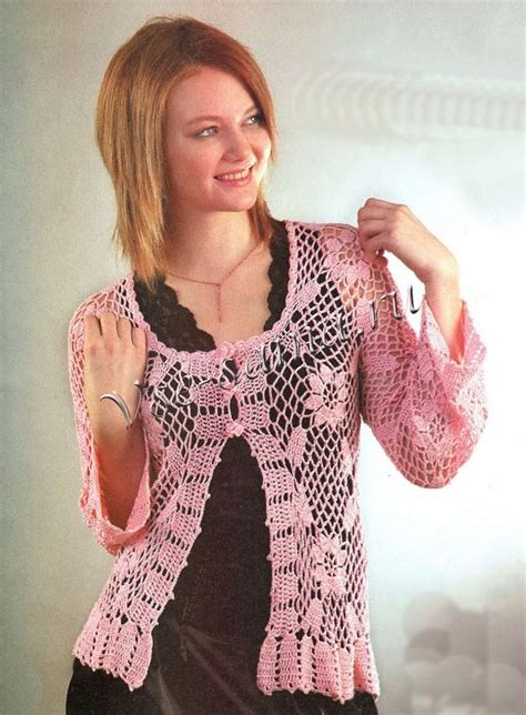 Flower Cardi flower and lace cardi crochet kingdom