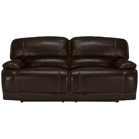 Vinyl Leather Sofa Benson Dk Brown Lthr Vinyl Reclining Sofa