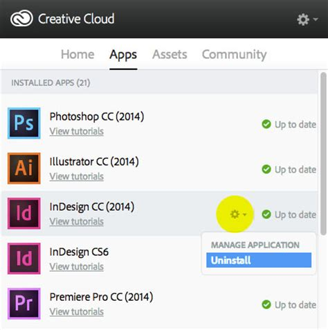 how to uninstall or reinstall indesign cc